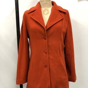 Burnt orange cashmere blend peacoat